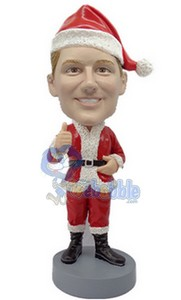 Santa thumbs up custom bubblehead