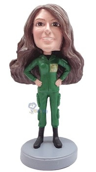 Military Female custom bobble head doll