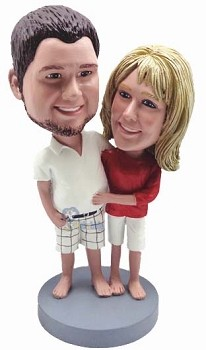 Happy couple custom bobble head doll 10