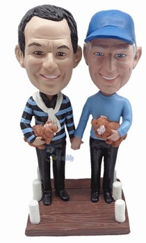 Same Sex Male couple custom bobble head doll 2