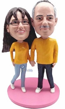 Happy couple custom bobble head doll 11