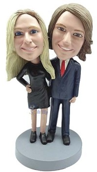 Happy couple custom bobble head doll 12