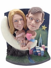 Moonlight-Cupid couple custom bobble head doll