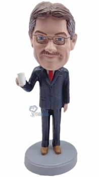 Man with Cup custom bobblehead4