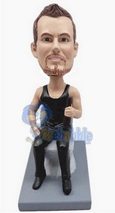 Man on toilet - custom bobble head doll  2