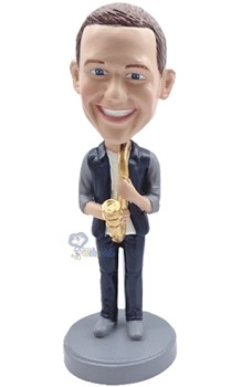 Saxophone custom bobble head doll 3