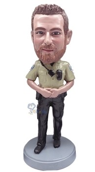 Police man personalized bobble head doll 5