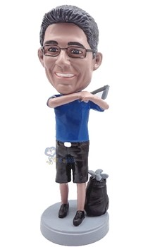 Golfer custom bobble head doll 9