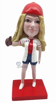 Baseball Gal custom bobblehead