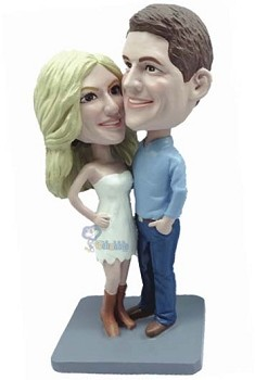 Happy couple custom bobble head doll 16