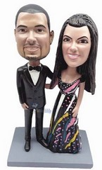 Dressed Up couple custom bobble head doll