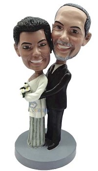 Dressed Up couple custom bobble head doll 2