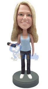 Weights with Female custom bobble head doll