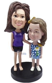 Mother Daughter custom bobblehead