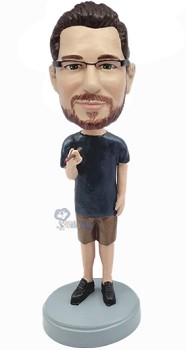 Man in shorts  with Cigar custom bobble head doll 13