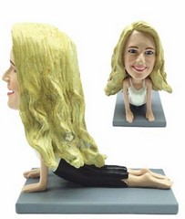 Yoga custom bobble head doll