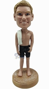 Male in Bathing Suit custom bobble head doll