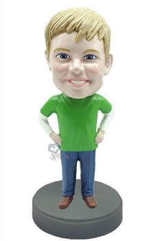 Man with hands on waist custom bobblehead