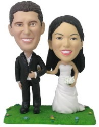 Arm and Arm (Bride and Groom) custom bobblehead