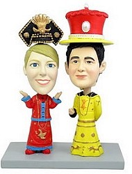 Royal dress couple custom bobble head doll