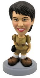 Venture girl custom bobble head doll