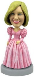 Bridal Party Dress custom bobble head doll