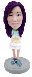Little Girl in nice outfit 2 custom bobble head doll