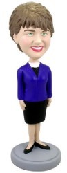 Short Skirt Female custom bobble head doll