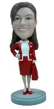 Holiday Office Worker custom bobble head doll