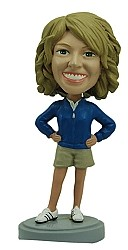 Athletic Women custom bobble head doll