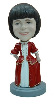 Holiday fancy dress custom bobble head doll