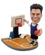 Basketball Player on court custom bobble head doll