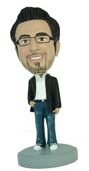 Man with hand in pocket Casual custom bobble head doll