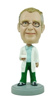 Dentist custom bobble head doll   - Holding Teeth