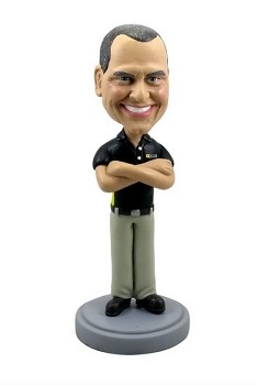 Man with hands crossed 3 custom bobble head doll