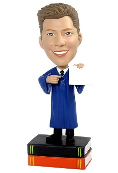 Graduation custom bobble head doll 4