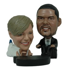 Wedding couple with piano custom bobble head doll