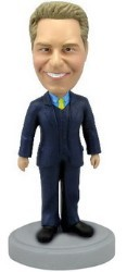 Male In Suit custom bobble head doll