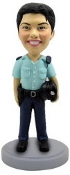 Police man personalized bobble head doll