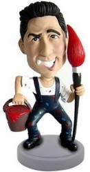 Painter personalized bobble head doll