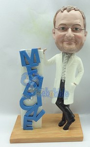 "Doctor ""MEDICINE"" - custom bobble head doll Premium"